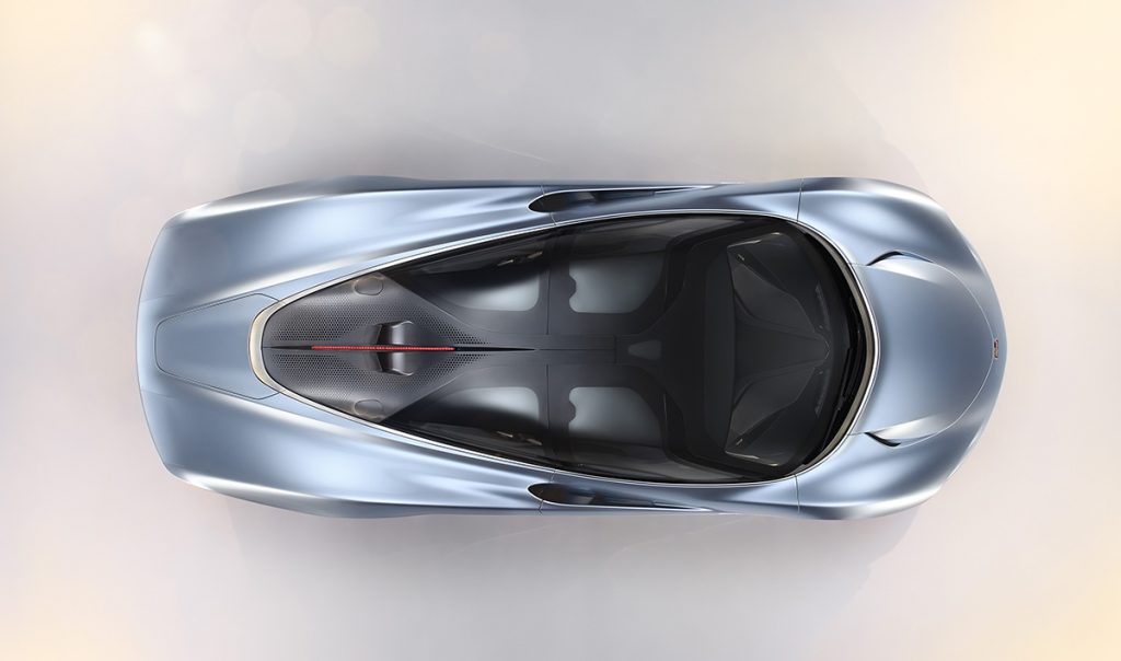 McLaren Speedtail bird's eye view
