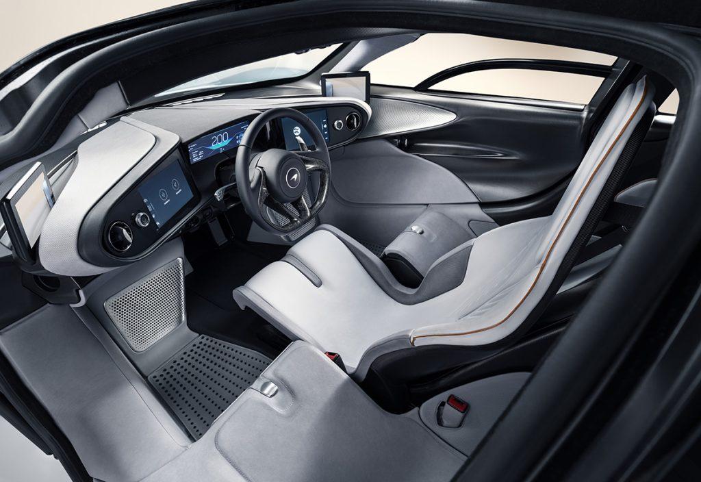 McLaren Speedtail three seat configuration