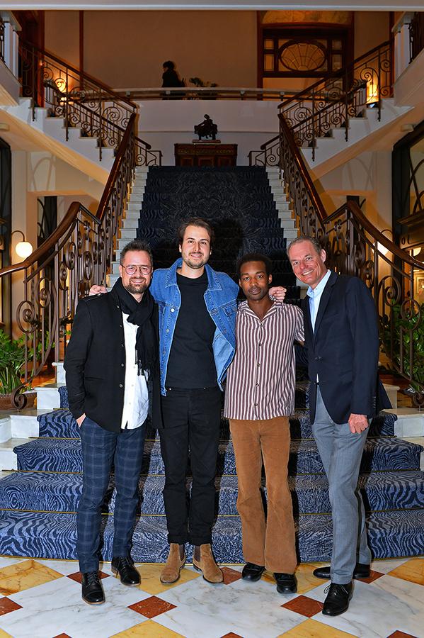 Mathieu Jaton, Chief Executive Officer, Montreux Jazz Festival, Bobby Bazini, Jalen N'Gonda and Michael Smithius, General Manager © Marino Trevisani