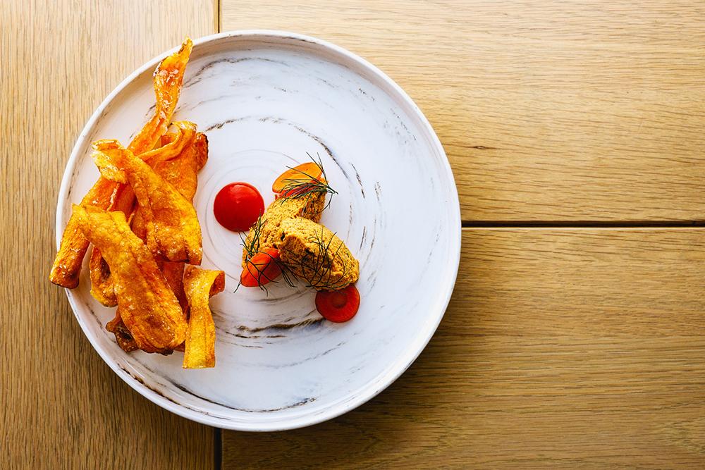 Fairmont Banff Springs carrot tartare